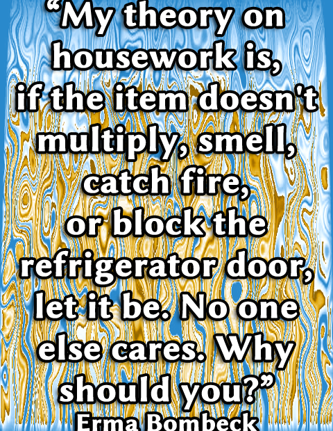 Housework no priority when ill
